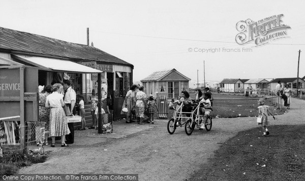 Swalecliffe, The Shopping Centre, Seaview Holiday Camp c.1955
