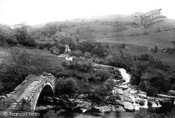 Keasdon Bridge And Higher Fall 1896, Swaledale