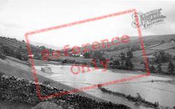 The River Swale In Flood Near Low Row c.1950, Swaledale