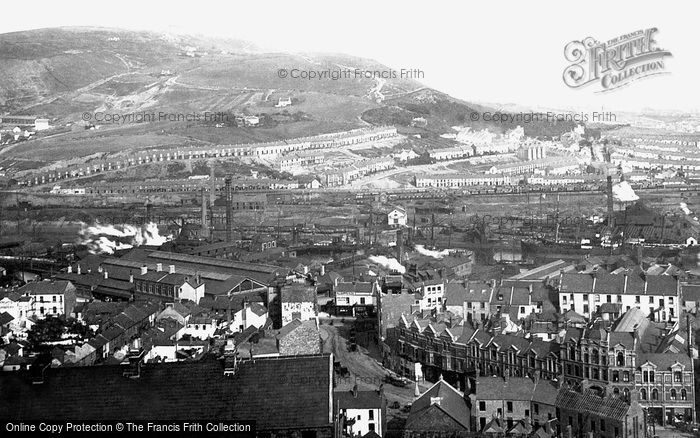 Photo of Swansea, General View From Hill 1893