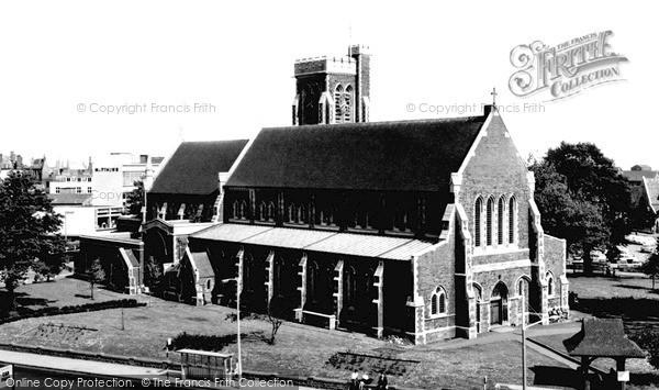 Photo of Swansea, St Mary's Church c1965