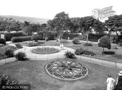 Victoria Park, Floral Clock 1925, Swansea