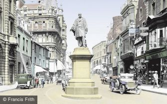 Swansea, Vivian Statue and Wind Street 1925