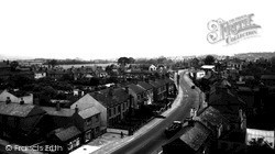 Derby Road From Church Tower c.1955, Swanwick
