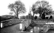 Swimbridge, St James Church and Bridge c1950