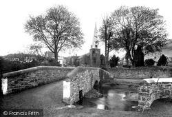 Swimbridge, St James Church And Bridge c.1950