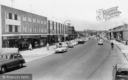 Swindon, Stratton Crossroads Shops, Looking Towards Penhill c.1965