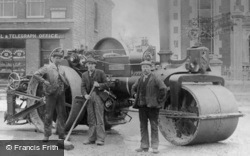 Swindon, Stratton, Steamroller In Ermin Street c.1910