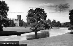 The Castle And Lake c.1955, Swinton Park