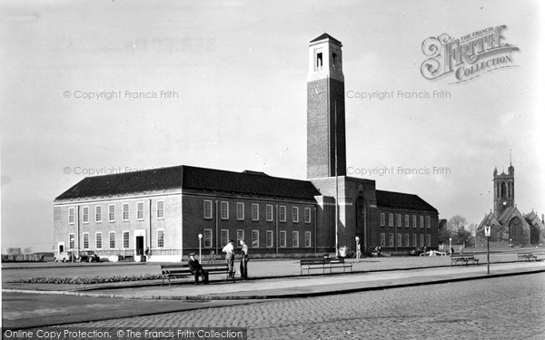 Swinton, the Town Hall c1955