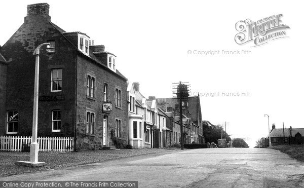 Photo of Swinton, Wheatsheaf Hotel and Main Street c1955, ref. S418011