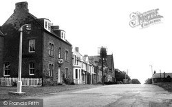 Wheatsheaf Hotel And Main Street c.1955, Swinton