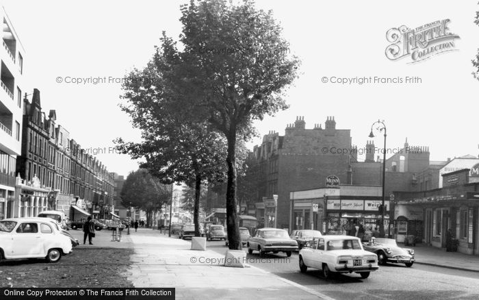 Swiss Cottage, Finchley and Frognal Station c1965