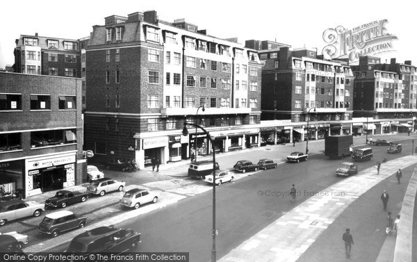 Swiss Cottage, Finchley Road c1965