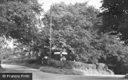 Swynnerton, The Fork Roads c.1955