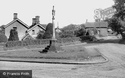 Swynnerton, The War Memorial c.1955