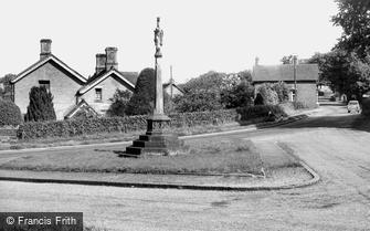 Swynnerton, the War Memorial c1955