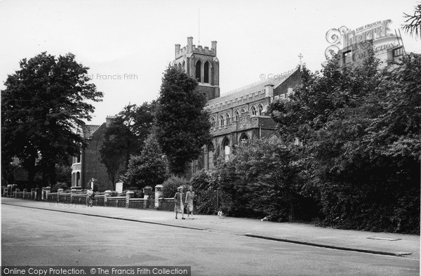 Photo of Sydenham, St Bartholomew's Church c1955
