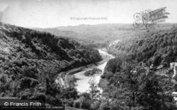 Symonds Yat, Railway And River From Above c.1880