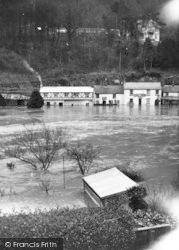 The River Wye In Flood c.1950, Symonds Yat