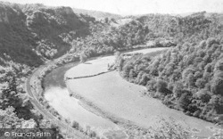 Symonds Yat, The River Wye, Railway And Coldwell Rocks c.1880