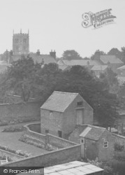 Syston, A View Towards The Church c.1955