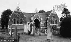 Syston, The Cemetery Chapels, Barkby Road c.1965