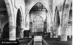 Tadcaster, St Mary's Church Interior 1906