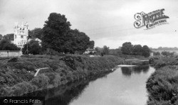 Tadcaster, The River Wharfe And St Mary's Church c.1955