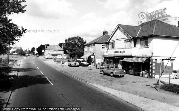 Takeley, the Ashes and Shops c1965.  (Neg. T109002)  © Copyright The Francis Frith Collection 2005. http://www.frithphotos.com