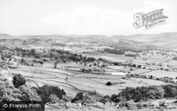 General View And Conwy Valley c.1955, Tal-Y-Bont