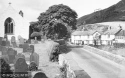 Tal-Y-Llyn, Pen-Y-Bont Hotel And St Mary's Church c.1960