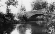 Talbot Green, River and Bridge c1955