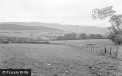 Talgarth, Park Wood And Black Mountains 1955