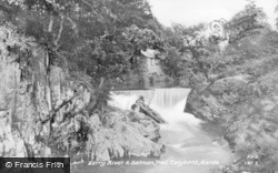 Talybont, Afon Leri And Salmon Pool c.1955, Tal-Y-Bont