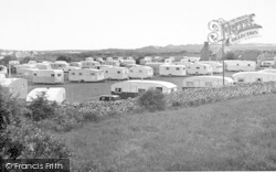 Talybont, Caerelwan Caravan Site c.1955