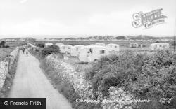 Talybont, Camping Ground c.1955, Tal-Y-Bont