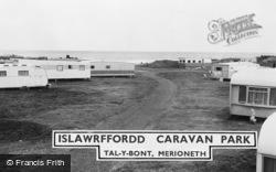 Talybont, Islawffordd Caravan Park c.1960, Tal-Y-Bont