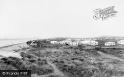 Talybont, Islawrffordd Caravan Park From The Sandhills c.1960, Tal-Y-Bont
