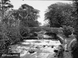 Talybont, River And Bridge c.1935, Tal-Y-Bont