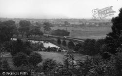 Tamworth, Lady Bridge From Castle Grounds c.1955