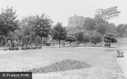 Tamworth, Pleasure Gardens And Castle c.1950
