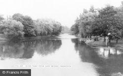 Tamworth, River Tame From Lady Bridge c.1955