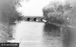 Tamworth, River Tame, Lady Bridge c.1955