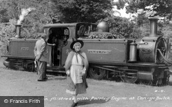 Station Mistress And Fairlie Engine c.1950, Tan-Y-Bwlch