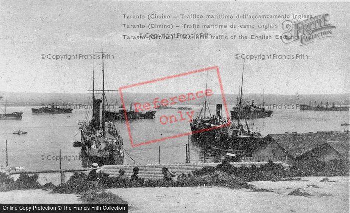 Photo of Taranto, Maritime Traffic Of The English Encampment c.1917