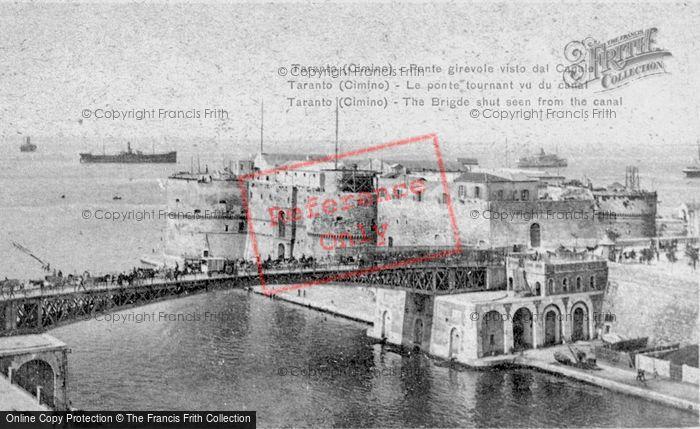 Photo of Taranto, The Bridge, From The Canal c.1917