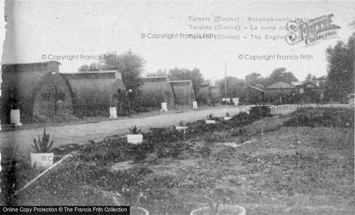 Photo of Taranto, The English Encampment c.1917