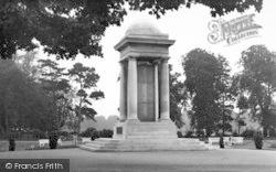 Taunton, The War Mamorial c.1955