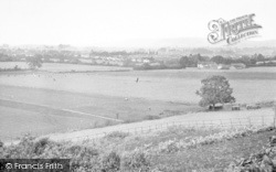 Taunton, View From Queen's College c.1950